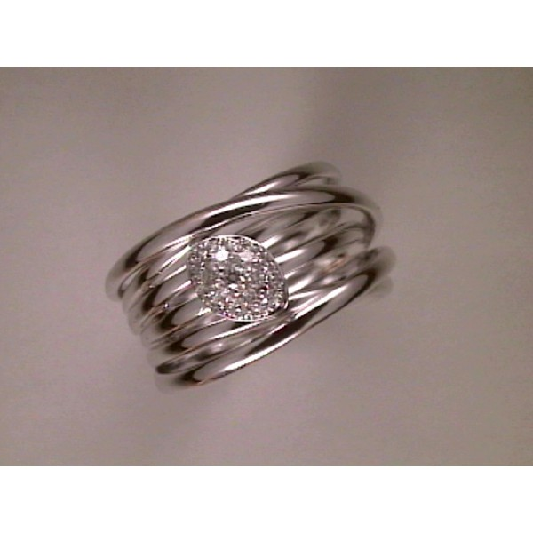 ANILLO ORO BLANCO I BRILLANTES