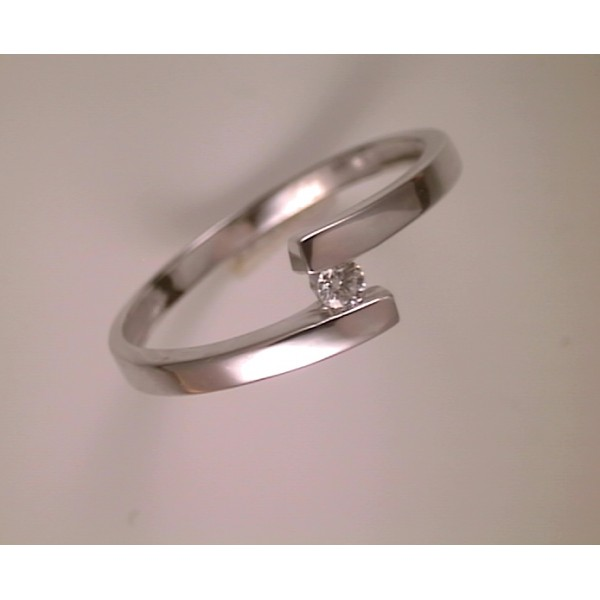 Anell en or blanc amb diamant