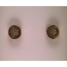 Arracades en or rosa amb diamants