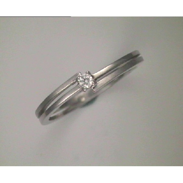 Anell d´or blanc amb 1 diamant